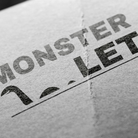Monster let-logo design