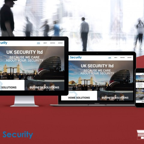 UK Security-website design and development