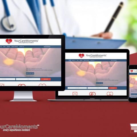 Your care moments-Web design and development